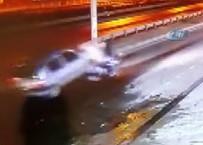 BENZİN İSTASYONU - Trabzon'da Akıl Almaz Kaza