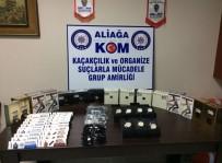 GÜNEŞ GÖZLÜĞÜ - Aliağa'da Kaçak Malzeme Operasyonu