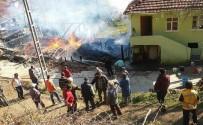 AHŞAP EV - Kastamonu'da 2 Katlı Ahşap Ev Alevlere Teslim Oldu