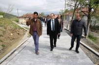 Bafra'da Beton Yol Çalışması