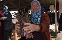 YUMURTA - Baharın İlk Sebzesi Kuşkonmaz Pazarda İndi