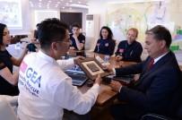 CEZAYIR - Başkan Uysal, GEA Antalya Grubuyla Buluştu