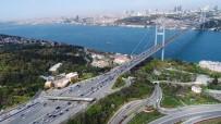 FATIH SULTAN MEHMET KÖPRÜSÜ - 15 Temmuz Şehitler Köprüsü'ndeki Gişe Çalışmaları Havadan Görüntülendi