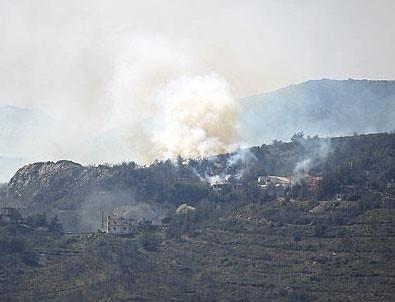 Türkmendağı''na Esed bomba yağdırıyor