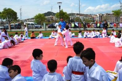2. Biga Çocuk Olimpiyatlarında Karateciler Yoğun İlgi Gördü