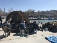 ONARIM ÇALIŞMASI - Av Yasağı Başladı,Ağlar Onarıma Alındı