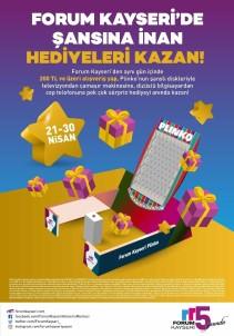 Forum Kayseri'de Hediye Yağmuru Başlıyor!