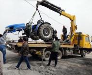 Traktör İle Otomobil Çarpıştı Açıklaması 1 Ölü, 4 Yaralı