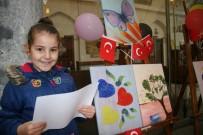 Minikler Rengarenk Dünyalarını 23 Nisan İçin Tuvallere Yansıttı