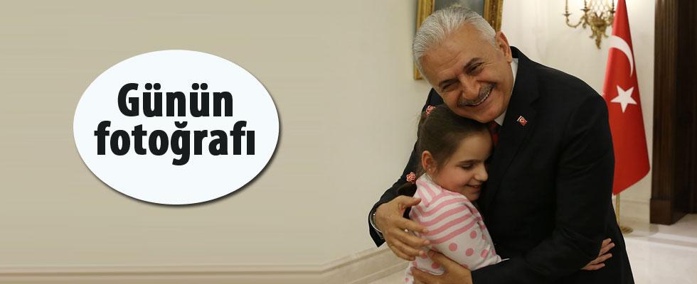 Başbakan Binali Yıldırım çocukları kabul etti