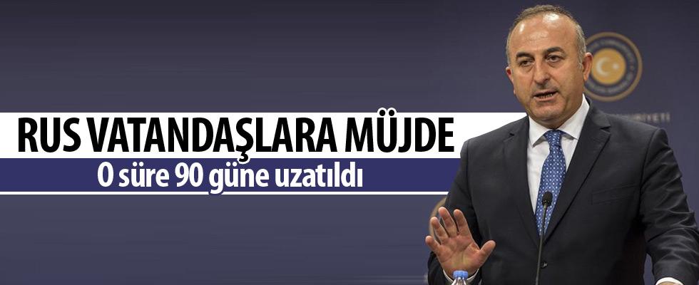 Bakan Çavuşoğlu'ndan Ruslara müjde
