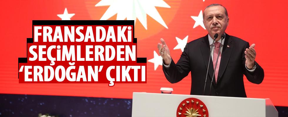 Fransa'daki seçimlere Erdoğan damgası