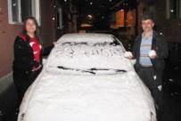 Hisarcık'ta 23 Nisan'da Yağan Kar Şaşırttı