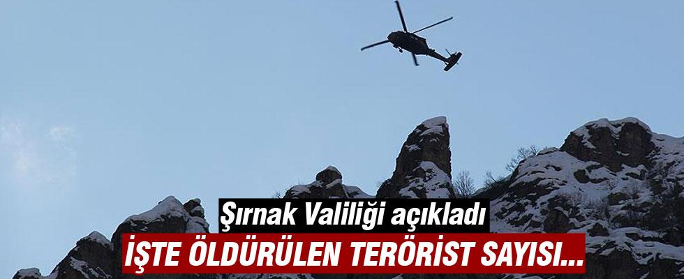 Şırnak'taki operasyonda etkisiz hale getirilen terörist sayısı 40'a yükseldi