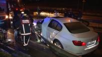 SAĞLIK EKİBİ - E-5'Te Lüks Araç Bariyere Saplandı Açıklaması 1 Yaralı