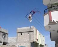 Elektrik Tellerine Çamaşır Kurutmalığı Takıldı