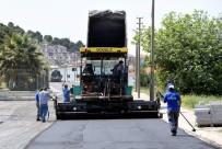 SICAK ASFALT - Aliağa'da Asfaltlama Çalışmaları Sürüyor