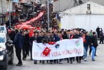 Ardahan'daki 57. Alay Vefa Yürüyüşü'ne Yüzlerce Genç Katıldı