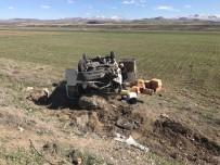 TAHKİKAT - Horasan'da Trafik Kazası Açıklaması 1 Yaralı