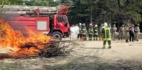 SÖNDÜRME TÜPÜ - Jandarma Ulaştırma Tabur Komutanlığında Yangın Eğitimi