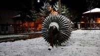 YAĞIŞLI HAVA - Tokat'ta Kar Yağışı Kartpostallık Manzaralar Oluşturdu