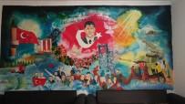 Şehit Halisdemir'in Portresini Okul Duvarına Resmetti