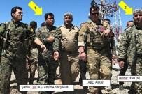 ABDULLAH ÖCALAN - TSK'nın Vurduğu Suriye'nin Kuzeyindeki YPG Hedeflerini Amerikan Askerleri Ziyaret Etti