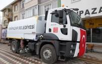 Yenipazar Belediyesi Araç Filosuna Yeni Yol Süpürme Kamyonu Ekledi