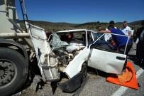 Arıza Yapan Beton Mikserine Otomobil Çarptı Açıklaması 1 Ölü