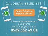 WHATSAPP - Çaldıran Belediyesi'nin 'Whatsapp' İletişim Hattına Yoğun İlgi