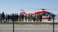 GÜVENLİK GÖREVLİSİ - Çatışmada Ağır Yaralanan Teğmen Helikopterle Erzurum'a Getirildi