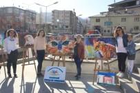 SÜMBÜL DAĞI - Hakkari'de Açık Havada Resim Çalışması Yapıldı