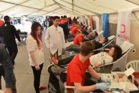 KAN BAĞıŞı - Kan Bağışı Kampanyasına Yoğun İlgi