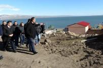 Vali Özefe, Çıldır Gölü Kenarında Yapımı Devam Eden Turizm Tesislerinin İnşaatını Denetledi