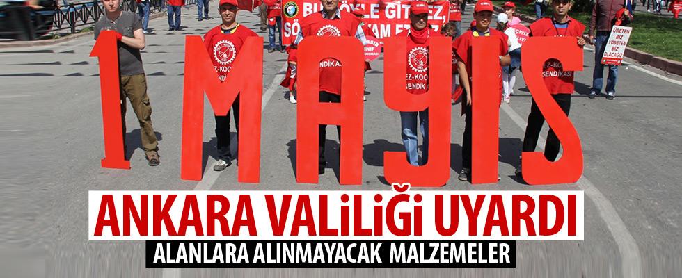 Ankara Valiliğinden '1 Mayıs' uyarısı
