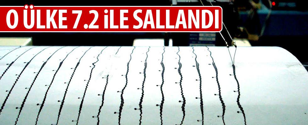 7.2 büyüklüğünde deprem