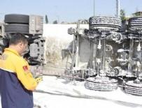 OKSIJEN - TEM'de korkutan kaza! AFAD ekipleri ölçüm yaptı...