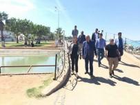 SAHİL YOLU - Başkan Seyfi Dingil, Sahil Peyzaj Çalışmalarını Yerinde İnceledi
