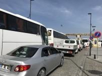 GEYIKLI - Çanakkale'de Araç Kuyruğu