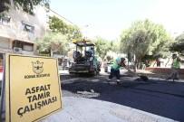 İŞ MAKİNASI - Konak'ın Sokaklarına 40 Bin Ton Asfalt