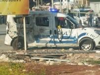EL YAPIMI BOMBA - Mersin'de polis aracına EYP'li saldırı