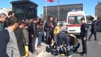GÖRGÜ TANIĞI - Taksim'de Kadın Sürücü Yayaya Çarptı