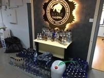 Yalova'da 213 Şişe Sahte İçki Ele Geçirildi