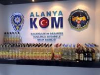 CIKCILLI - Antalya'da 375 Şişe Gümrük Kaçağı İçki Ele Geçirildi