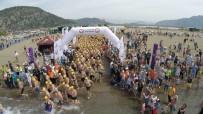 MEDİKAL KURTARMA - Dalyan'da Sporcular Carettalarla Yüzdü