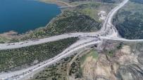 BOLLUCA - Kilometrelerce Hafriyat Kamyonu Kuyruğu Havadan Görüntüledi