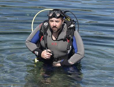 Ata Demirer, Bodrum'da deniz temizliği yaptı
