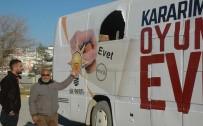 GÖRGÜ TANIĞI - AK Parti'nin seçim otobüsüne saldırı!