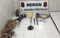 MOTORIN - Mersin'de Kaçak Kazı Yapanlar Suçüstü Yakalandı