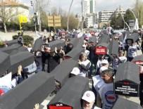 MEMUR SEN - Ankara'da protesto! Tabutlarla yürüdüler...